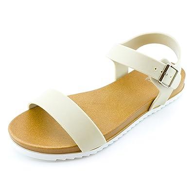 cd25fc880d4 Kali Womens Open Toe Gladiator Gold Strap Flat Sandals