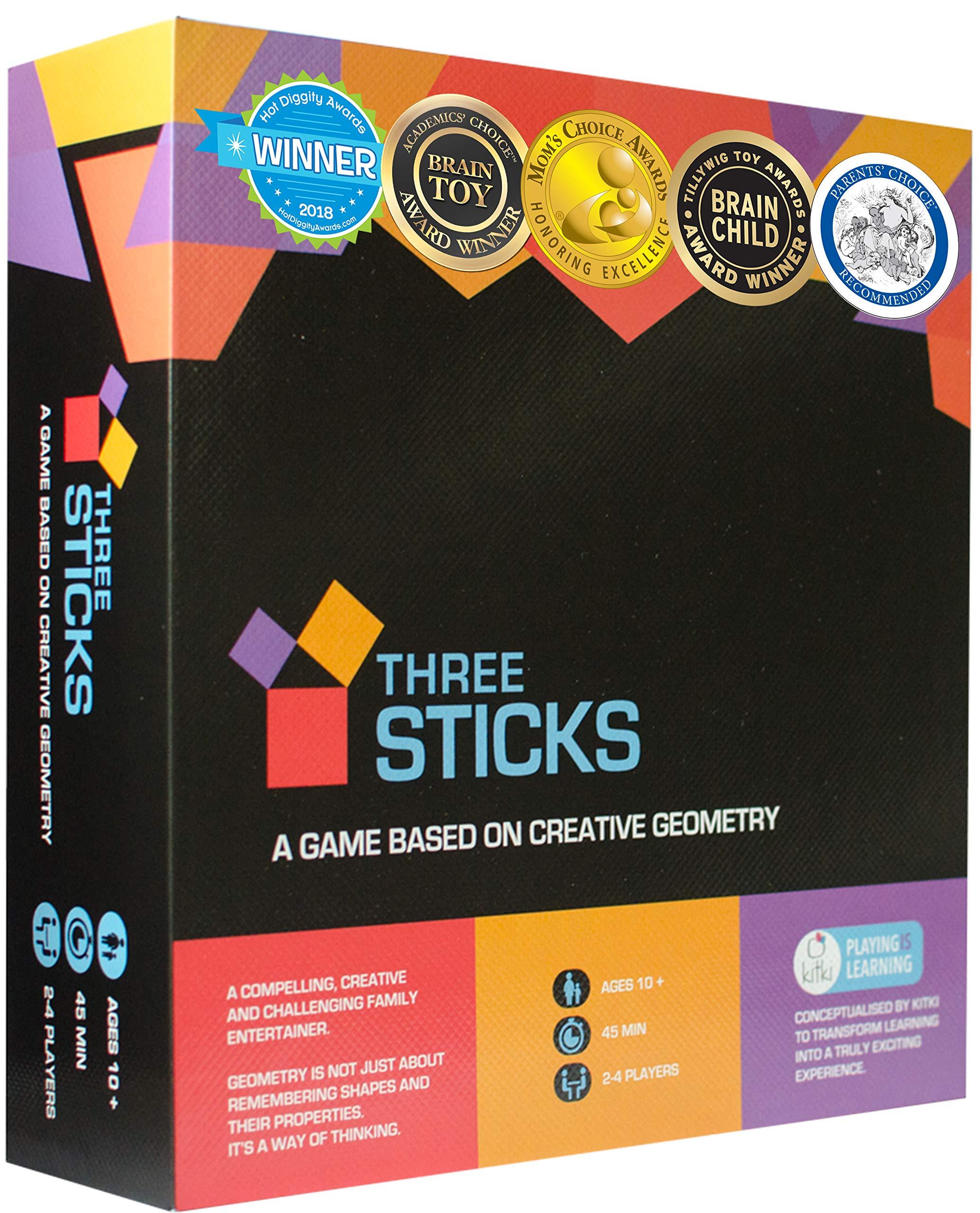 Kitki Three Sticks Creative Fun Math Board Game STEM Toy Gift for Boys & Girls by Kitki