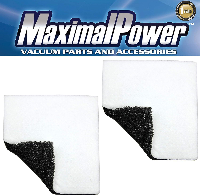 MaximalPower Replacement Vacuum Foam Filter Chamber Vacuum Dual Sides for Kenmore Vacuum Part # 86883, CF-1 (CF1), 20-86883 (2086883), 4370616, 8175084, 20-40321, 2040321, 40321 (2 Filters per Pack)