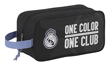 Real Madrid 11757 Bolsa para Zapatos, 29 cm, Negro