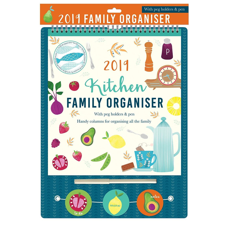 2019Family organiser con picchetti e penna–Cucina Widdle Gifts Ltd