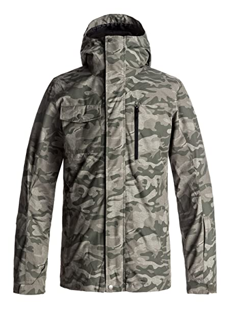 Quiksilver Mens Mission 3 in 1 Ski Snowboard Jacket with Bonded Fleece