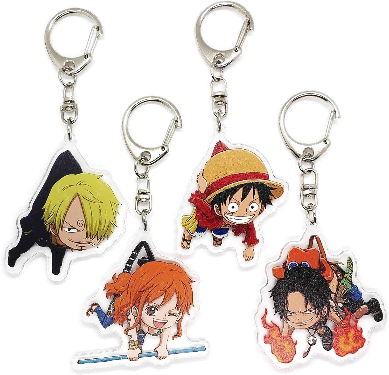Japan Anime ONE PIECE Monkey·D·Luffy Acrylic Key Ring Pendant Keychain Gift