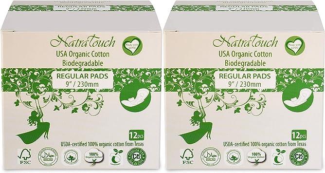 NatraTouch Compostable - algodón orgánico certificado (Servilleta ...