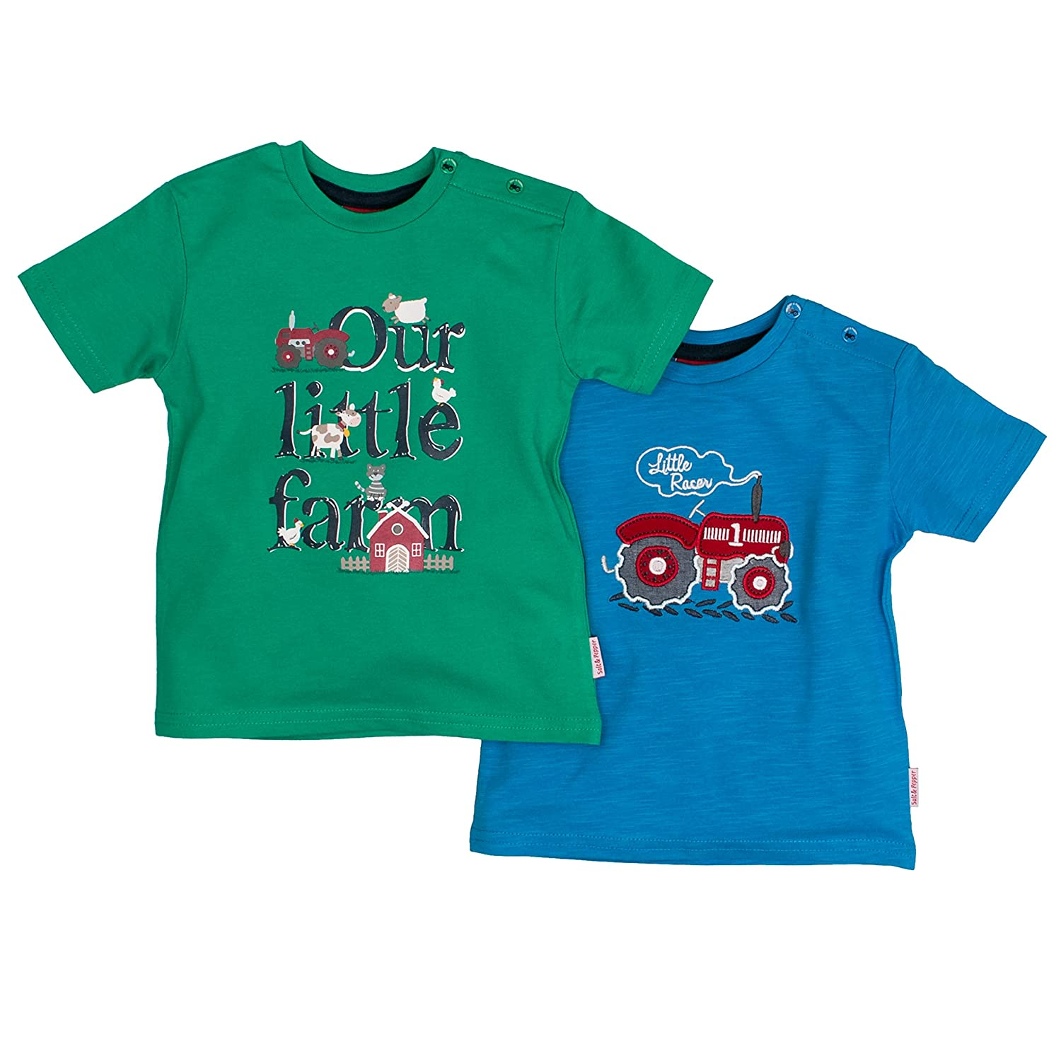 SALT AND PEPPER Baby-Jungen T-Shirt B Multiset Little Farm 73228901