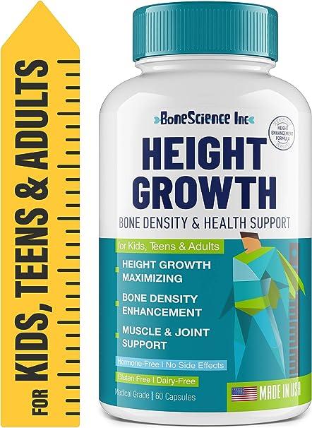 Height Growth Maximizer - Natural Peak Height - Made in USA - Height Pills Bone Growth - Grow Taller Supplement for Adults & Kids - Height Increase Pills - Maximum Height Growth Formula to Get Taller