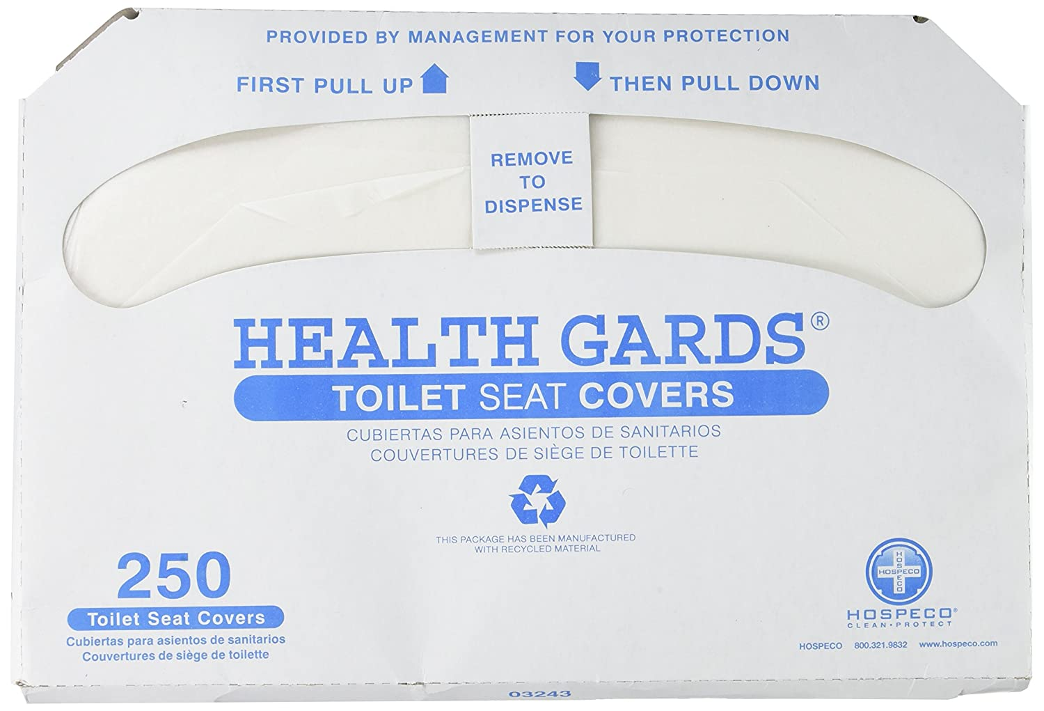 Health Gards Toilet Seat Covers - 250 Covers per Box 50%OFF