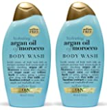 OGX Body Wash, Hydrating Argan Oil of Morocco, 13 Oz (Pack of 2)