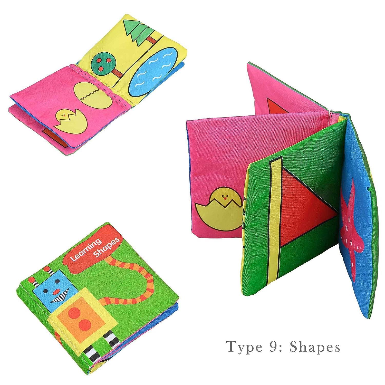 Ncient Livres Tissu , Jouet Tissu pour Bébé, Livre d'Éveil Éducatif Livre d' Éveil Éducatif