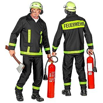 WIDMANN 08824 - Disfraz de bombero para hombre, color negro, talla ...