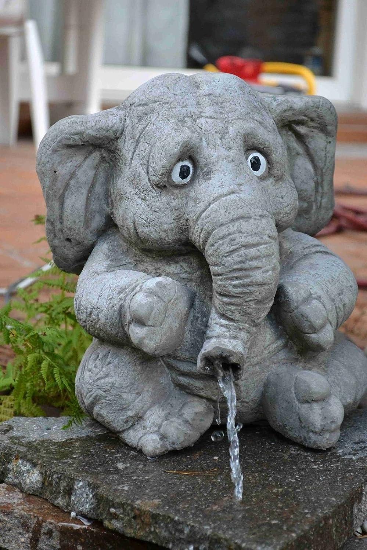 SSITG grande elefante Benjamin – Gárgola – Figura de escultura – Piedra – Jardín Decoración: Amazon.es: Jardín