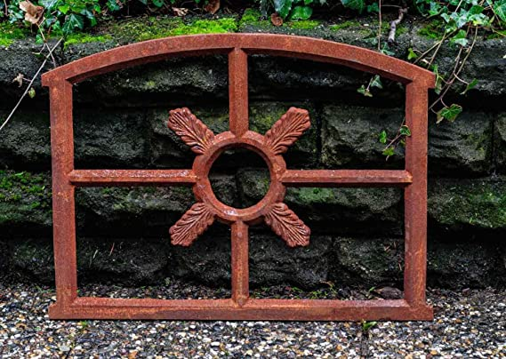 55x70cm 21 7 X27 6 Window Frame In An Antique Style Cast Iron With Rust