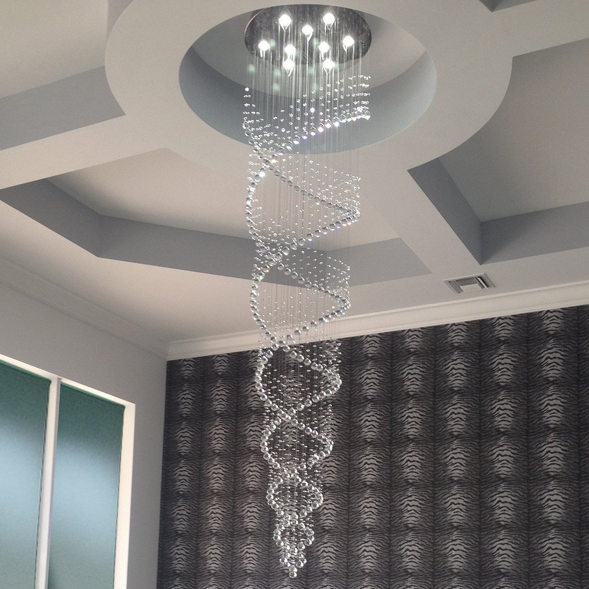 Saint Mossi Modern K9 Crystal Raindrop Chandelier Lighting Flush Led Light Simple Circuit Diagram Fully Stocked Store Mount Ceiling Fixture Pendant Lamp For Dining Room Bathroom Bedroom Livingroom