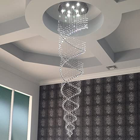 Genial Saint Mossi Modern K9 Crystal Raindrop Chandelier Lighting Flush Mount LED  Ceiling Light Fixture Pendant Lamp