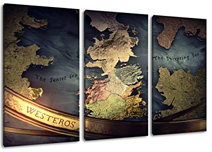 Game Of Thrones Picture 3 Piece On Canvas Total Size 47 2 X 31 5 High Quality Art Print As A Mural Cheaper Than An Oil Painting Attention No