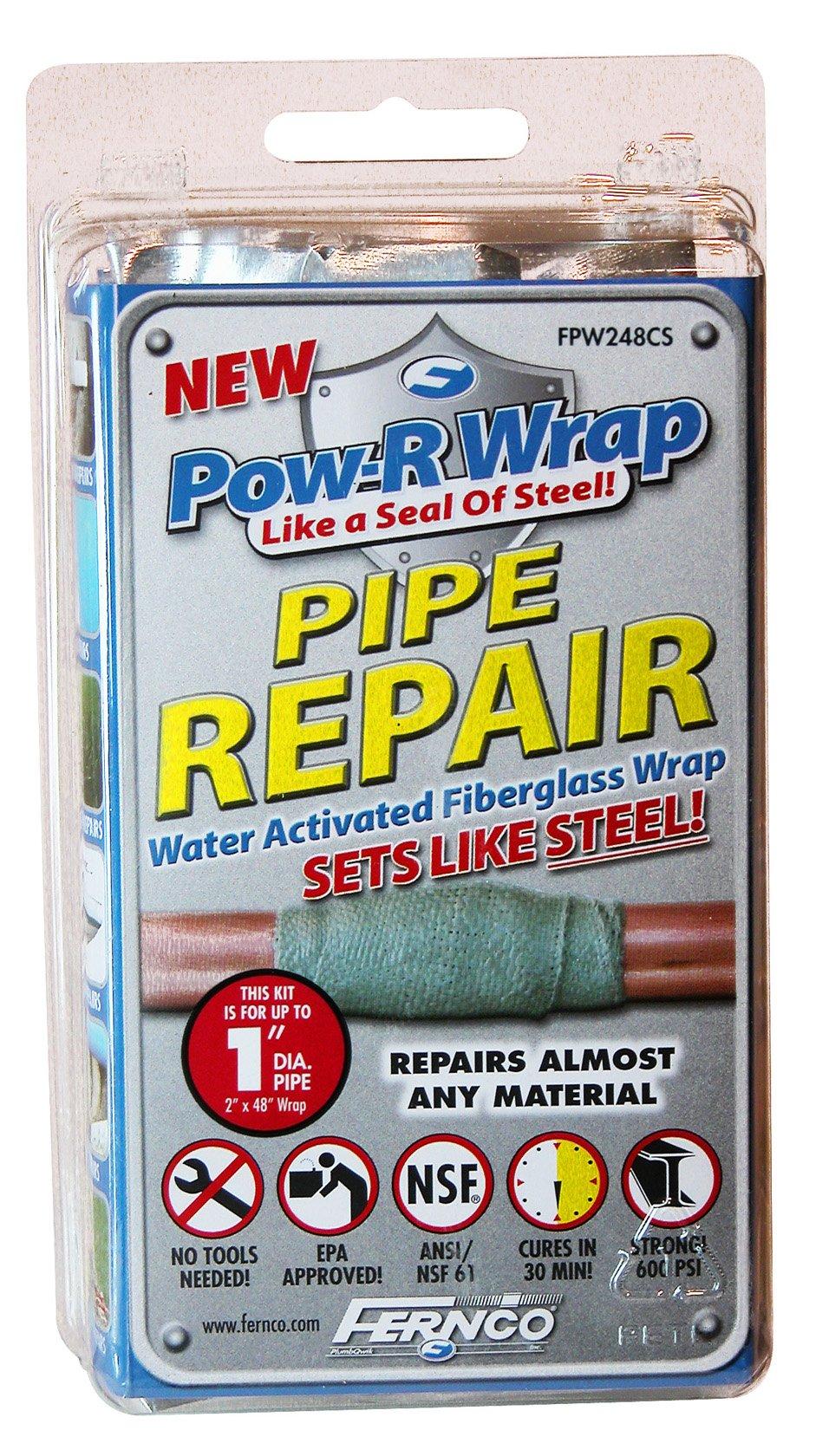 Fernco Inc. FPW248CS 1-Inch Pow-R Wrap Pipe Repair