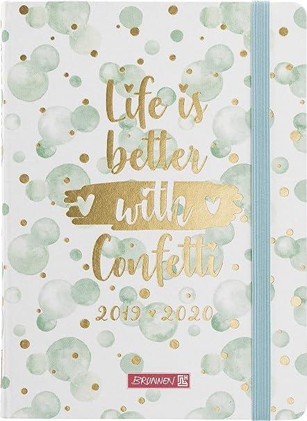 BRUNNEN 1072983090 Confetti - Agenda escolar 2019/2020, 2 ...