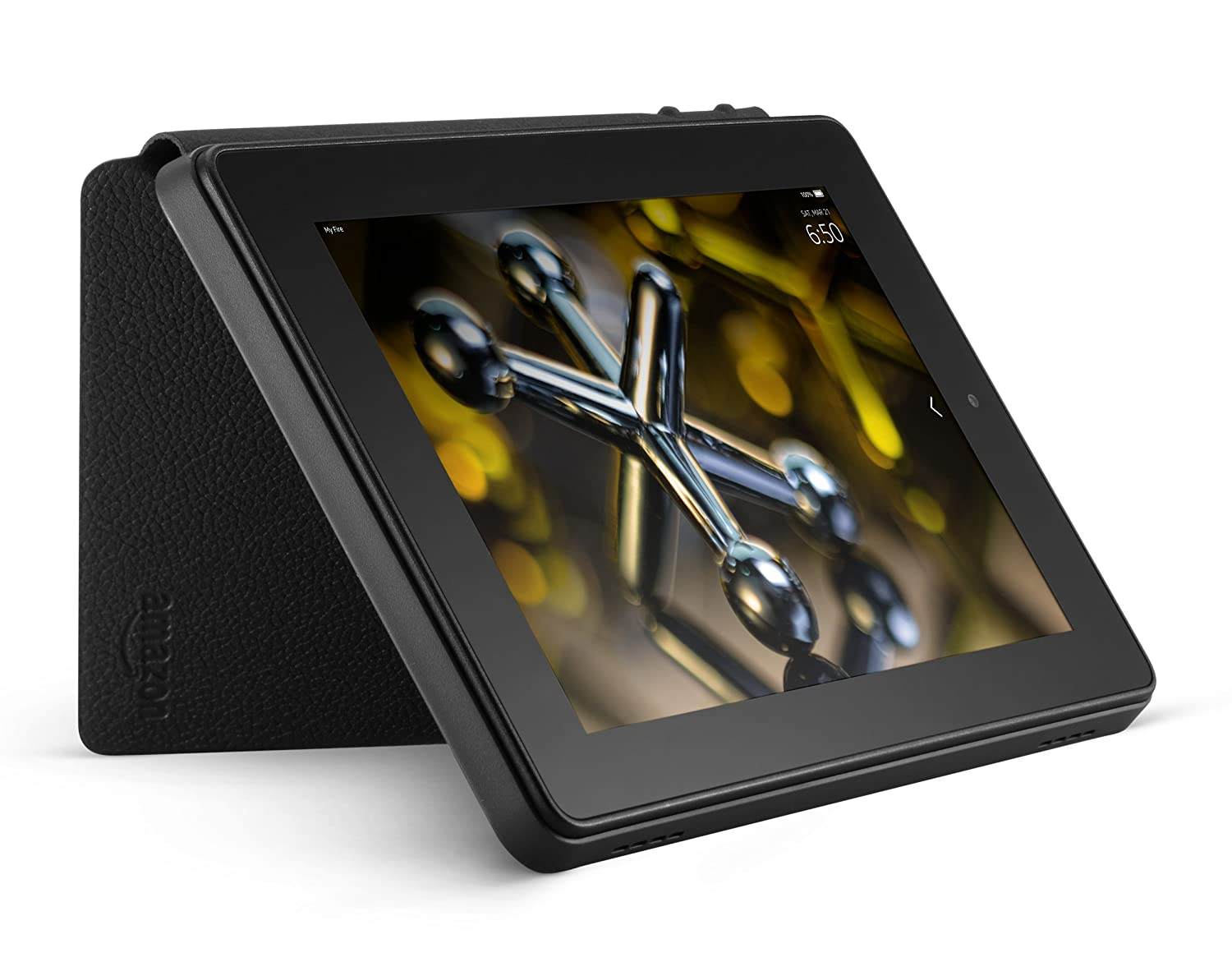 4th Generation Black Standing Leather Case for Fire HD 7