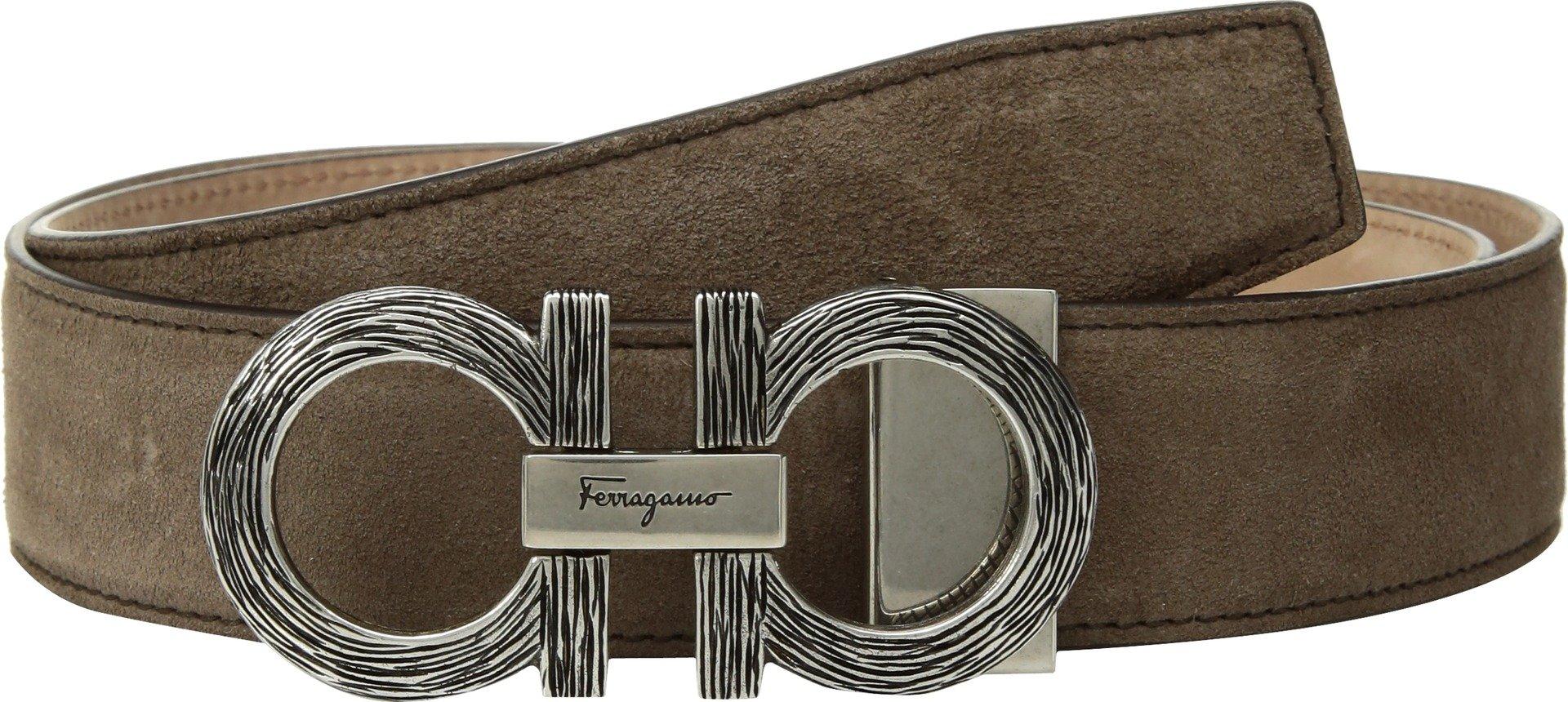 Salvatore Ferragamo  Men's Adjustable Belt - 679922 Sepia 32