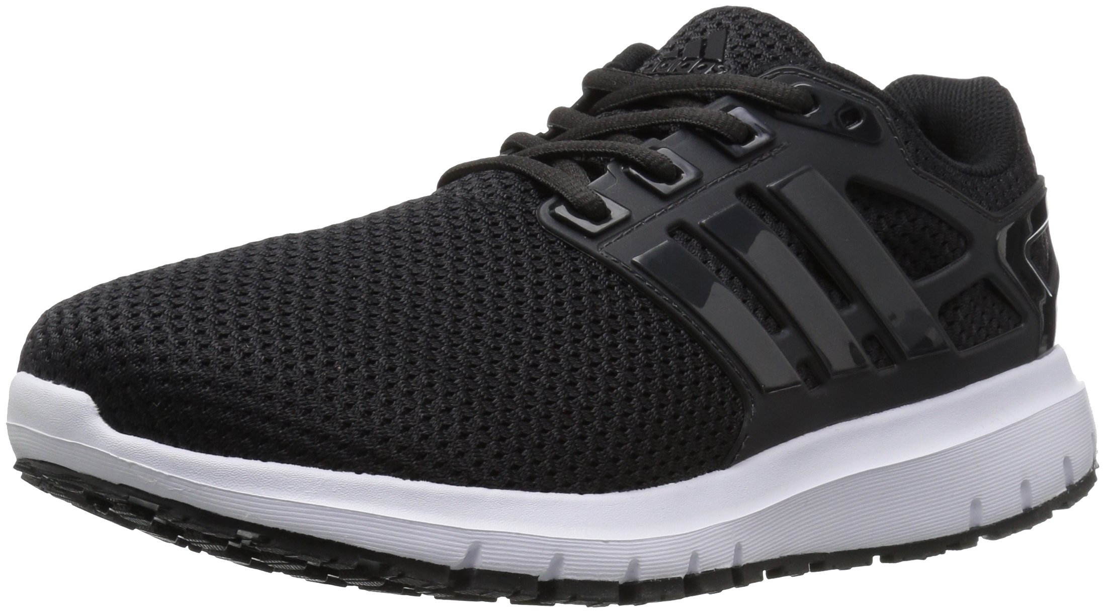 adidas  Men's Energy Cloud Wide m Running Shoe, BLACK/UTILITY BLACK/WHITE, 10.5 2E US