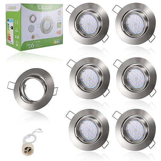 79 opinioni per Liqoo Faretti LED Incasso GU10 6 × Luci da Incasso Cartongesso Plafoniere LED
