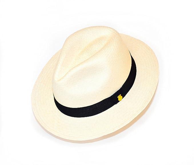 La Marqueza Hats New MONTECRISTI SUPERFINO Genuine Panama Hat  Rollable/Foldable pin Handwoven in Ecuador