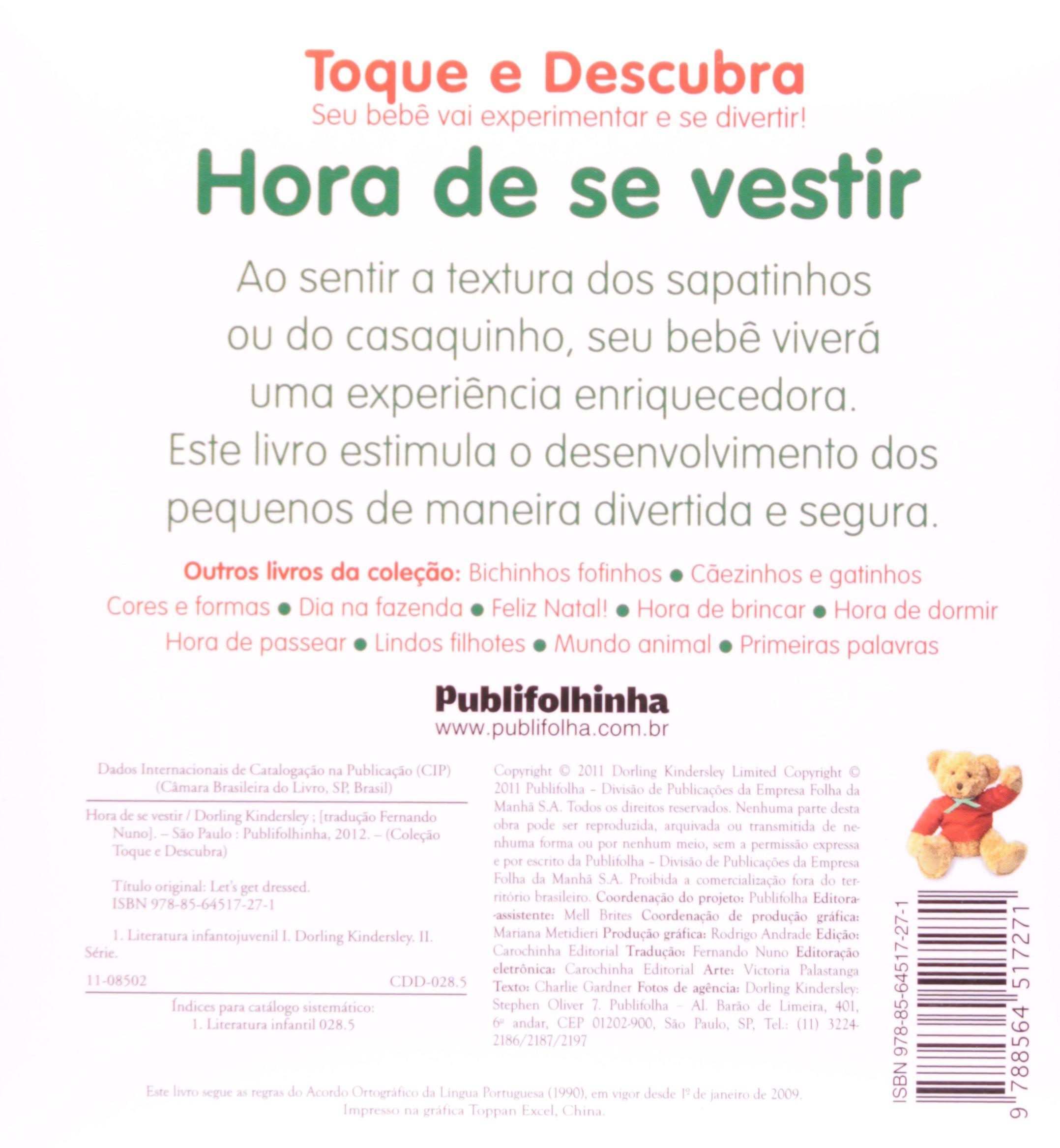 Hora de Se Vestir - Coleção Toque e Descubra (Em Portuguese do Brasil): Vários Autores: 9788564517271: Amazon.com: Books