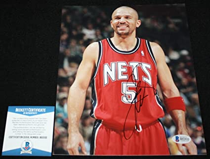 9bf68b929943 Autographed Jason Kidd Picture - 8 x 10 Nets Beckett BAS - Beckett  Authentication - Autographed