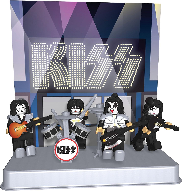 KISS SERIE COMPLETA DI 4 Building Brick MINIFIGURES Gene Paul Eric Tommy Rock Band