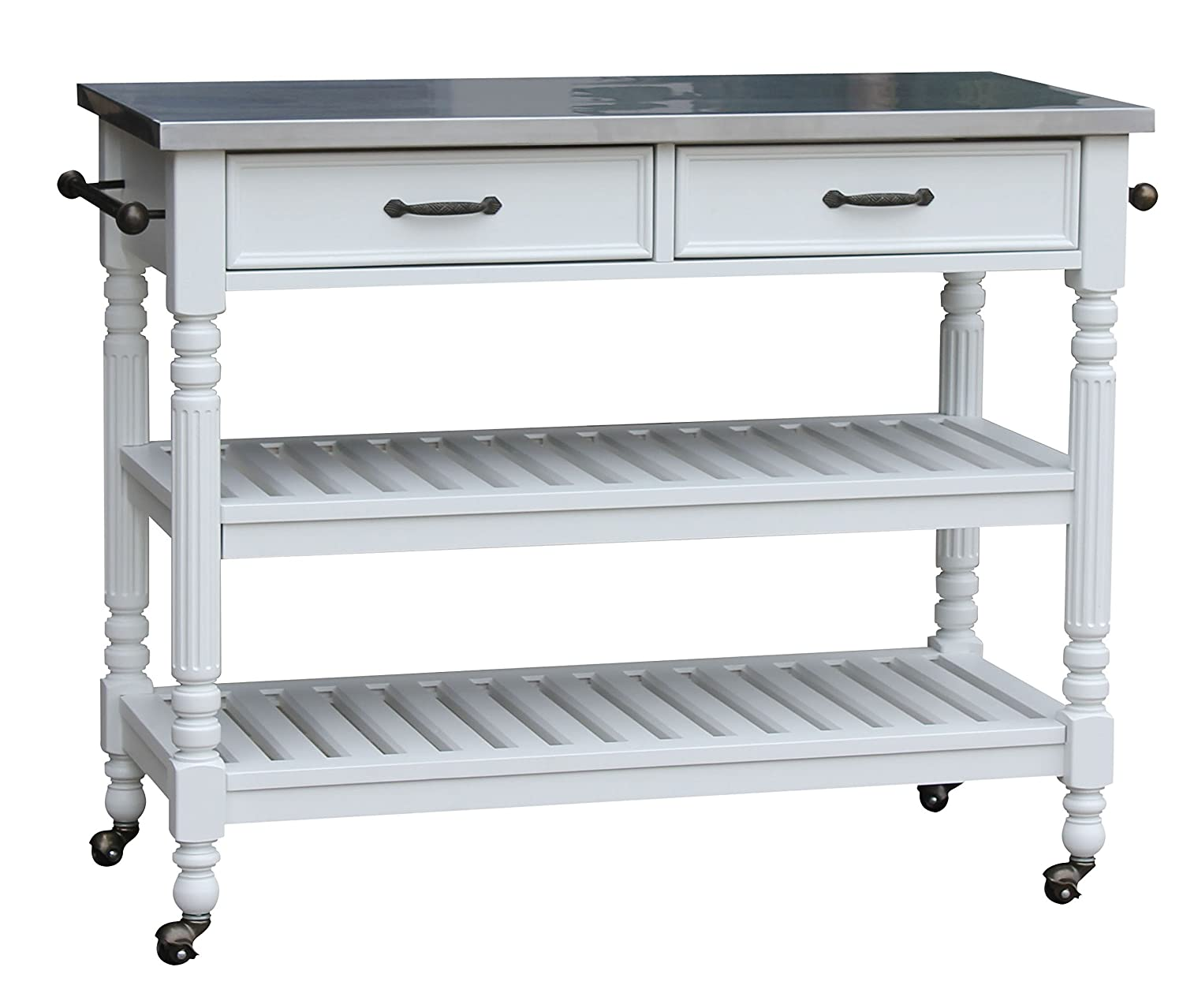 Home Styles Savanna Kitchen Cart, White Finish
