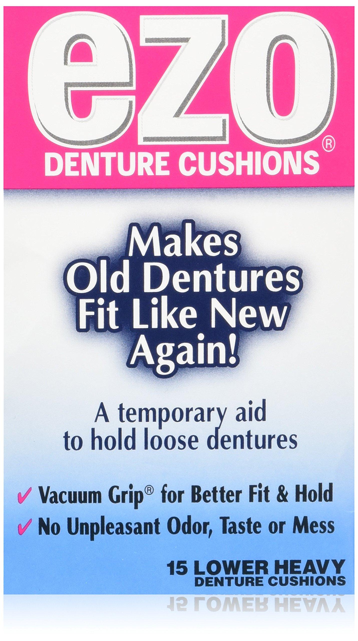 Ezo Denture Cushions Lower Heavy 15 Each (Pack of 3)