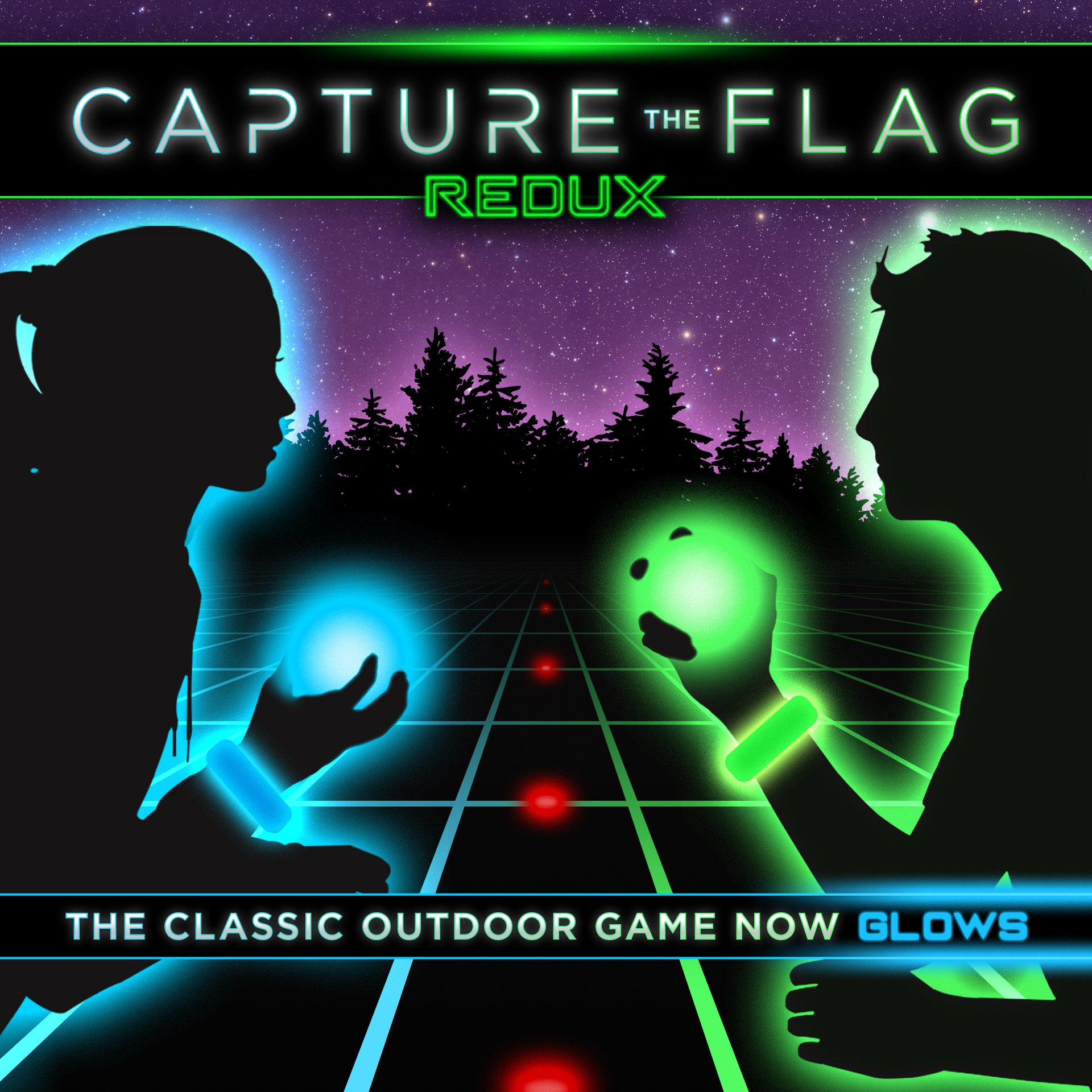Capture the Flag REDUX a Nighttime Outdoor Game for Youth Groups, Birthdays and Team Building - Get Ready for a Glow in the Dark Adventure