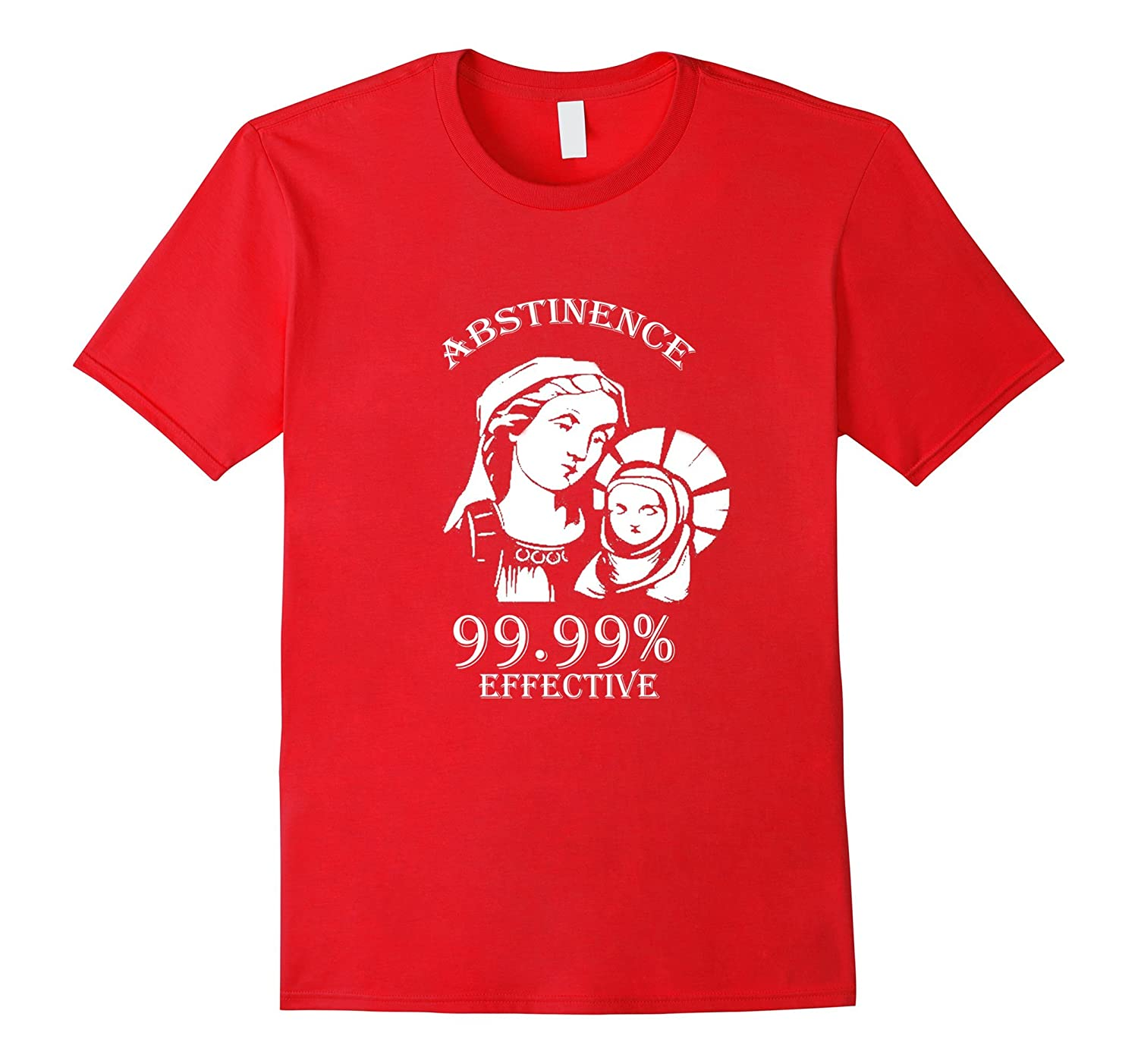 Abstinence 99.99% Effective Jesus funny Christmas t-shirt-Art