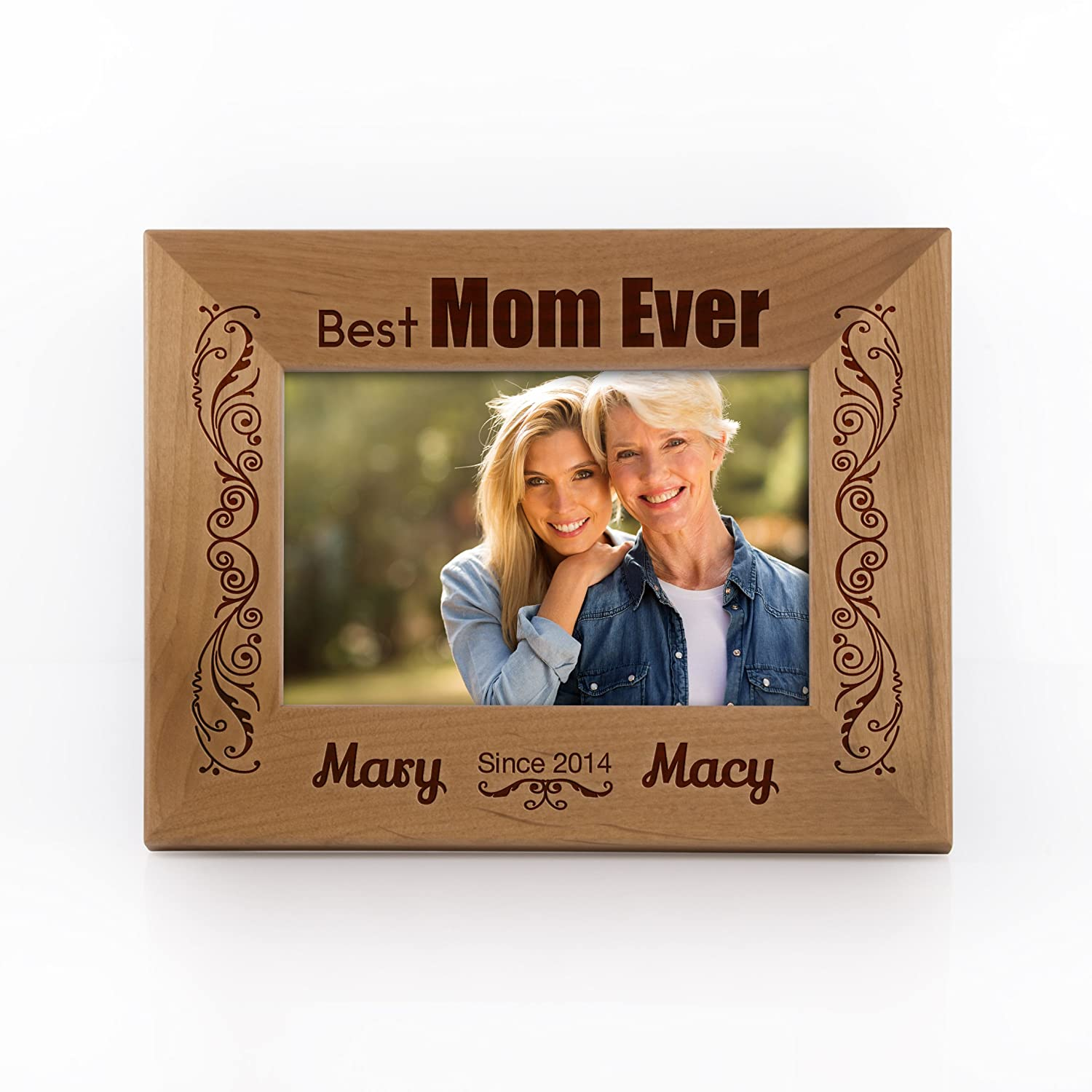 Amazoncom Personalized Picture Frame For Mom Best Mom Ever Since