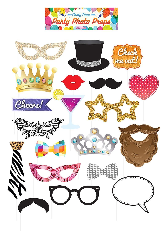 Kit photocall fiesta 20 und: Amazon.es: Ropa y accesorios