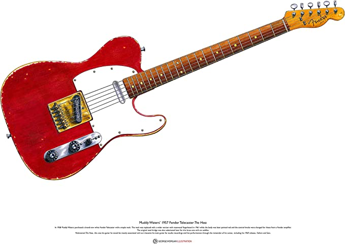George Morgan Illustration Guitarra Fender Telecaster de Muddy ...