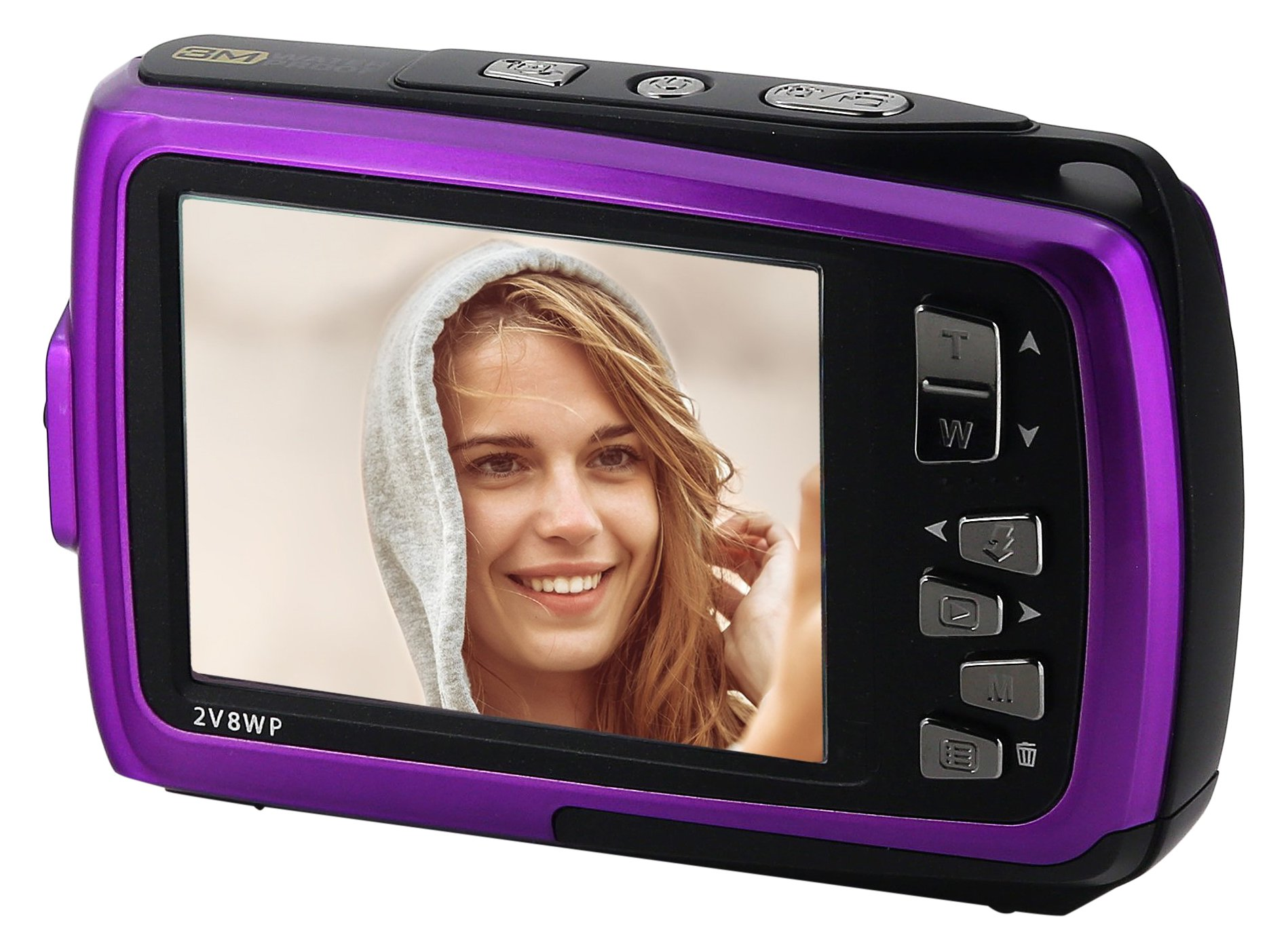 Coleman Duo2 18.0 MP HD Underwater Digital & Video Camera (Waterproof to 10 ft.) with Dual LCD Screens, 2.7'', Purple (2V8WP-P)