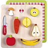 Janod - Chunky, Puzzle 2 en 1 encaje fruta (J06529)