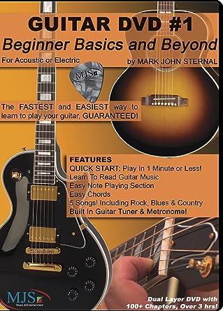 Amazon.com: GUITAR DVD #1 Beginner Basics and Beyond: Mark John ...