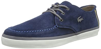 83f3f302514f35 Lacoste Men s SEVRIN 10 Low-Top Trainer Blue 8.5 UK (42.5 EU ...