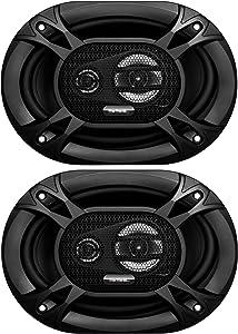 Sound Storm Labs EX369 300 Watt Per Pair 6 x 9 Inch Full Range 3 Way Car Speakers Sold in Pairs