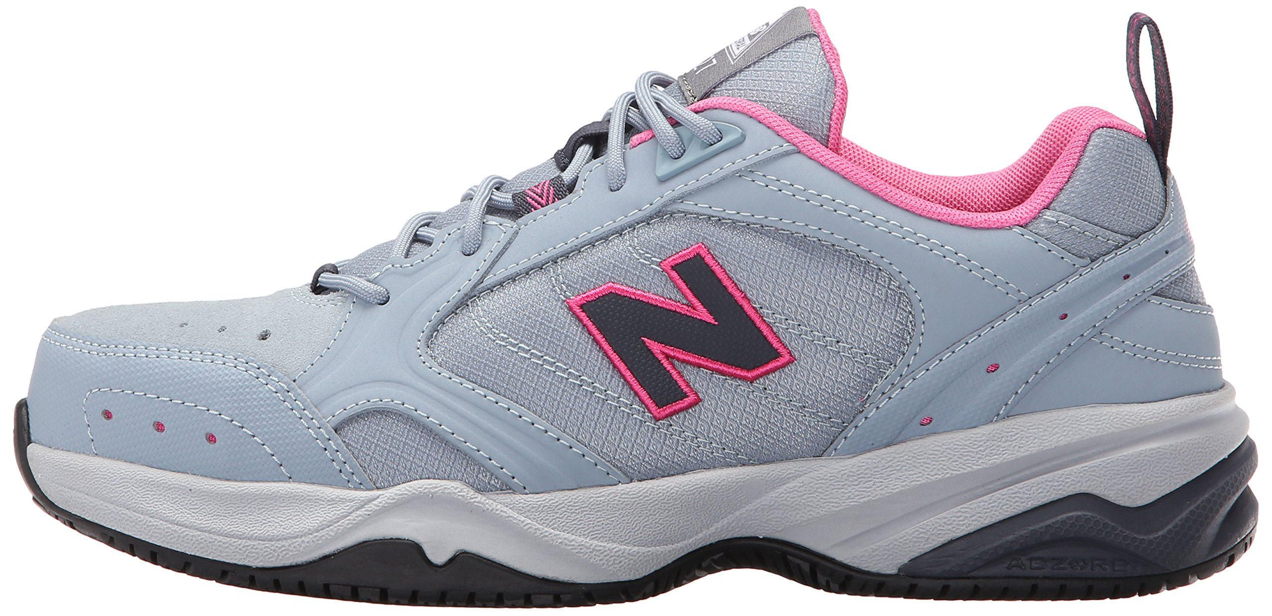 New Balance Women's WID627V1 Steel Toe Training Work Shoe,Light Grey/Pink,8 B US by New Balance (Image #5)