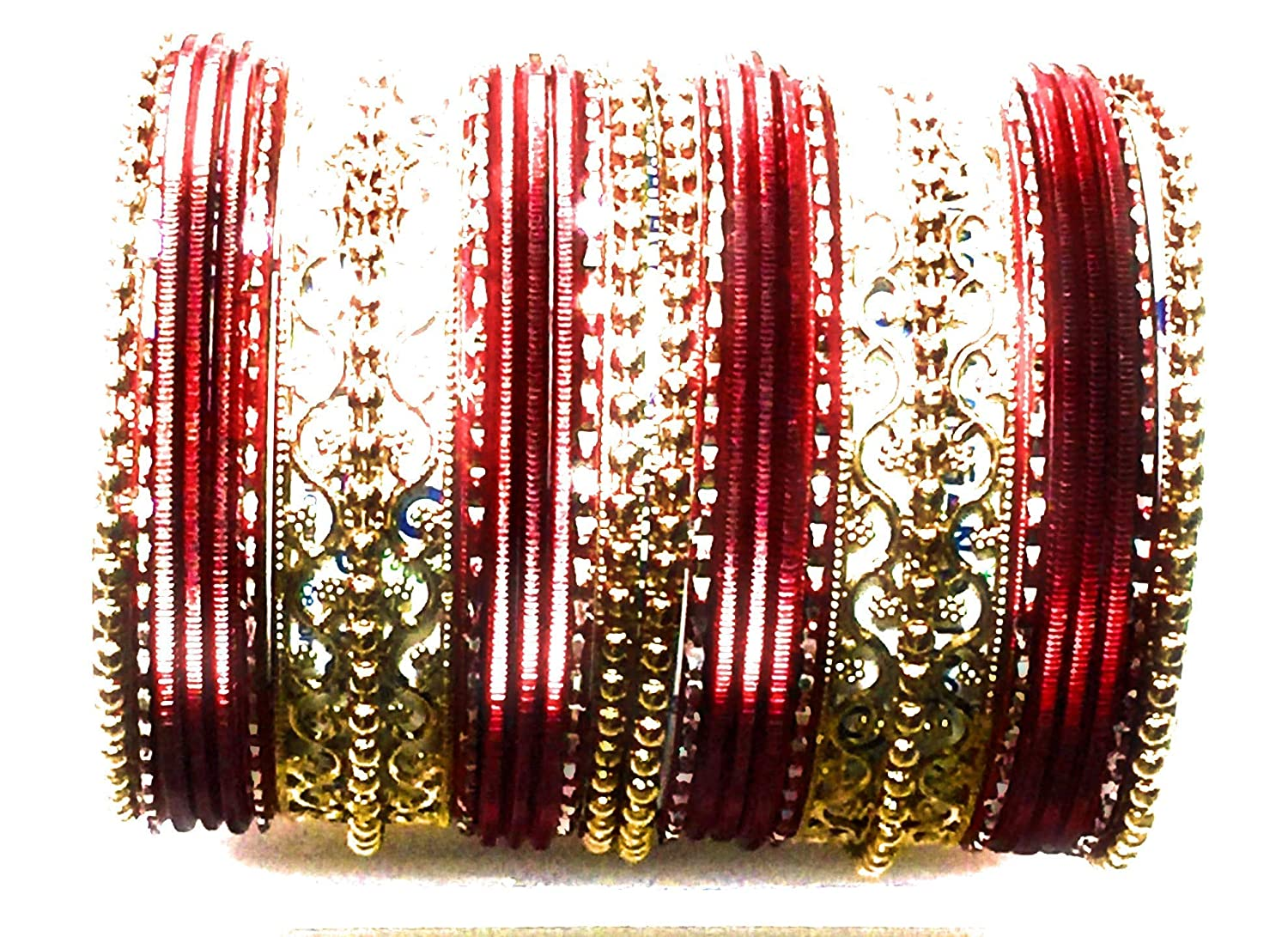 Definitions Wine Maroon Bolywood Wedding Dance Bangles Netted Celtic