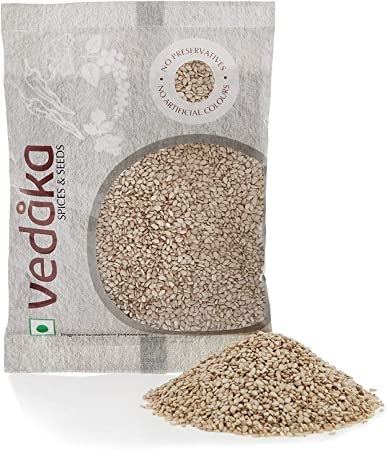 Amazon Brand - Vedaka Natural White Sesame Seeds (Til), 50g