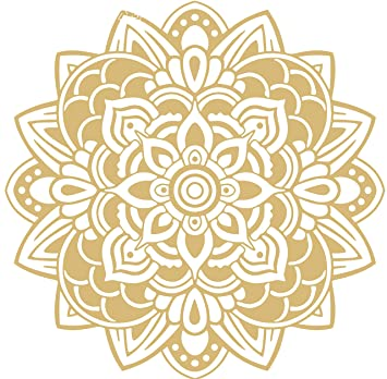 Omega Namaste Yoga Mandala 3 Vinyl Decal Sticker Quote - Small - Beige