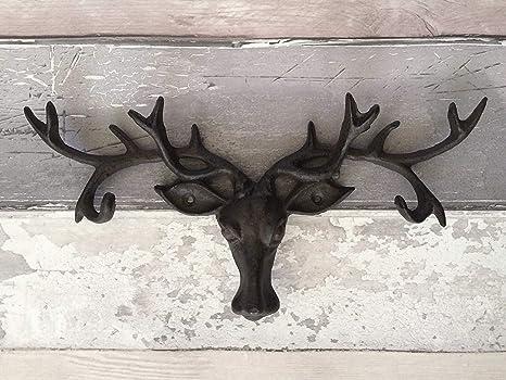 Homezone appendiabiti a forma di testa di cervo vintage in