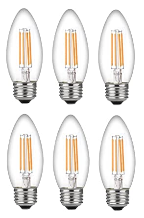 Bioluz LED 60 Watt Candelabra Bulbs Medium Base, Candelabra Bulbs ...