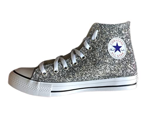 Converse All star converse Glitter argento  Amazon.it  Scarpe e borse 0887a03abfa
