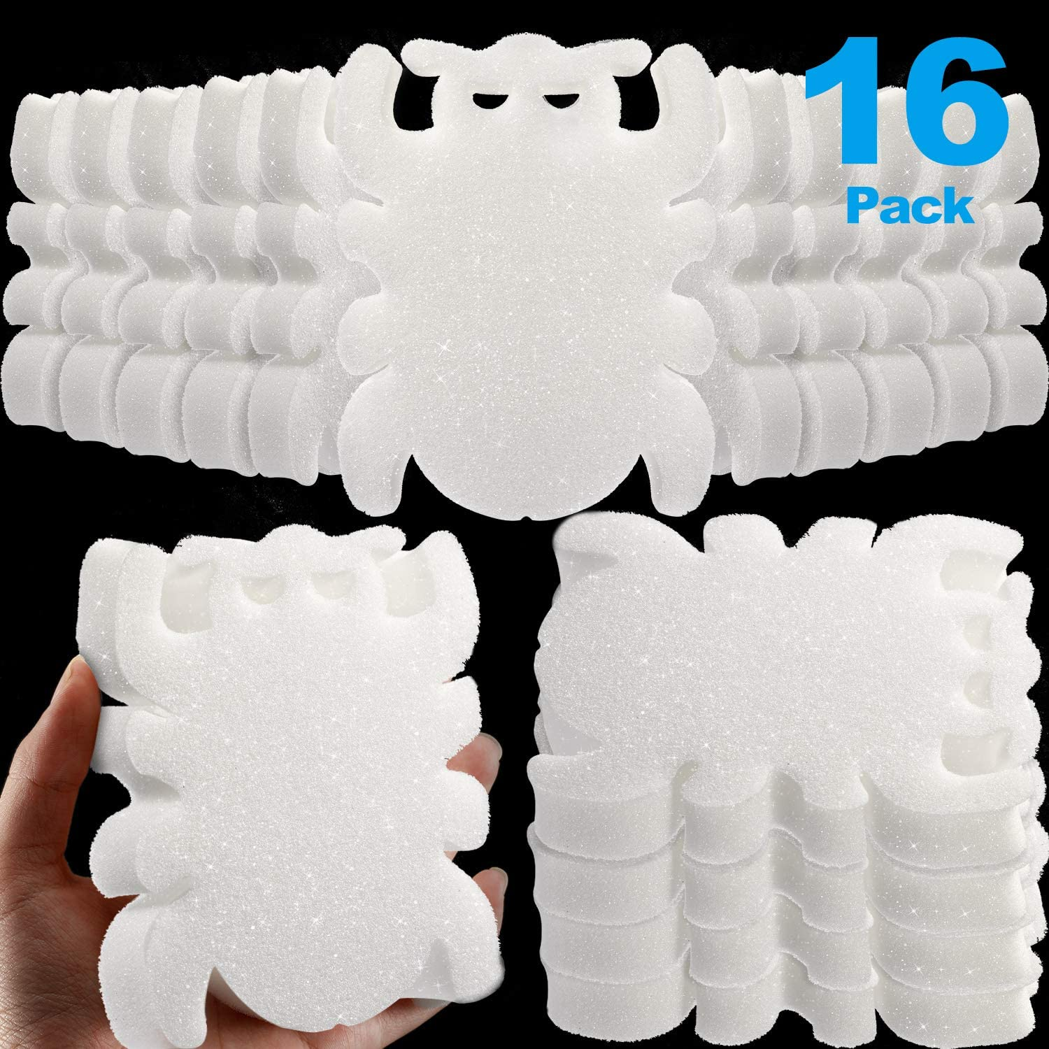 Boao 16 Pieces Creamy Oil Absorbing Scum Sponge for Hot Tub Swimming Pool and