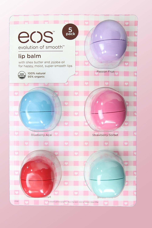EOS – Lip Balm Organic Lip Smooth Sphere Bálsamo (5 Pack): Amazon.es: Belleza